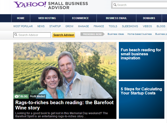 Rags-to-Riches Beach Reading Material – Yahoo Small Business Advisor