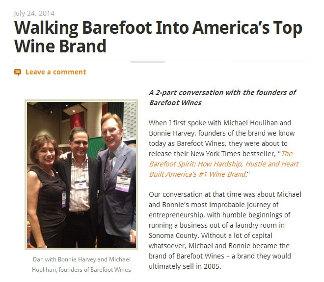 Walking Barefoot Into America's Top Wine Brand
